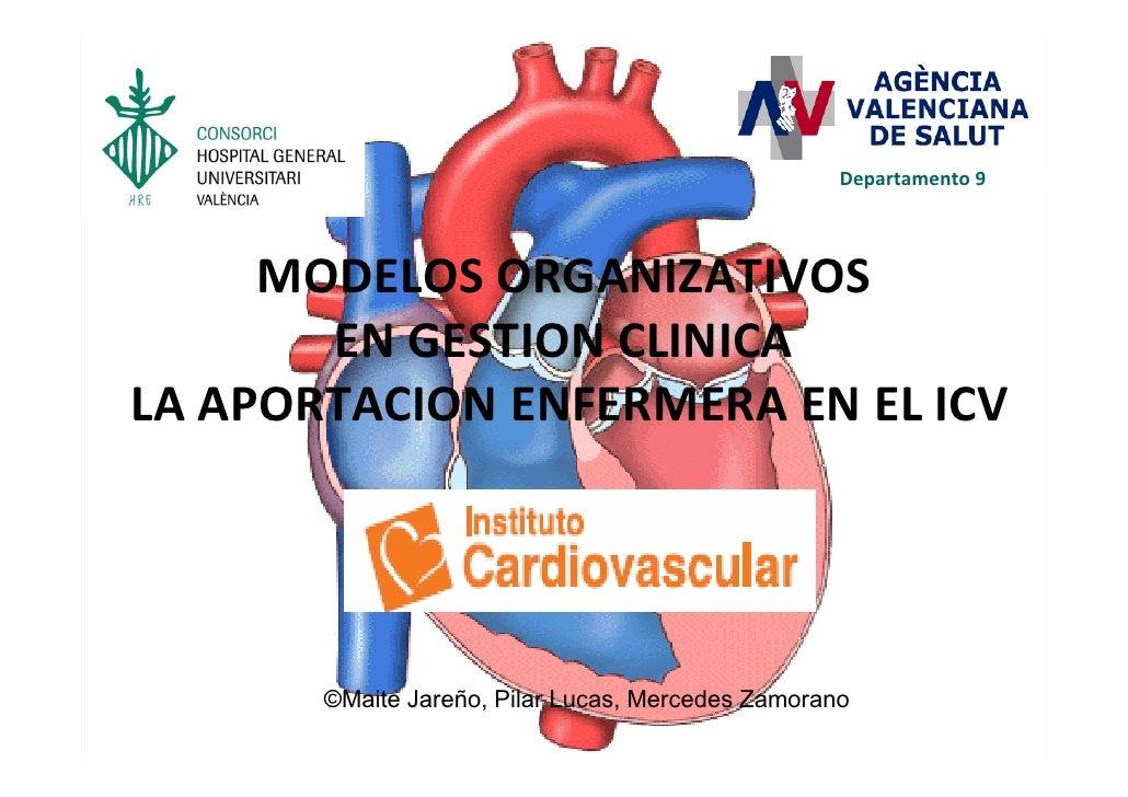 Departamento9     MODELOSORGANIZATIVOS       ENGESTIONCLINICALAAPORTACIONENFERMERAENELICV       ©Maite Jareño, ...