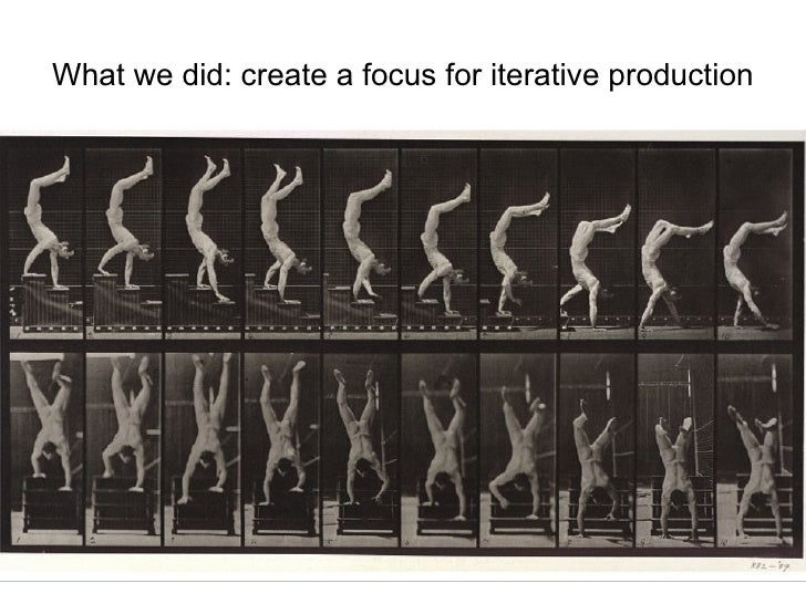 What we did: create a focus for iterative production