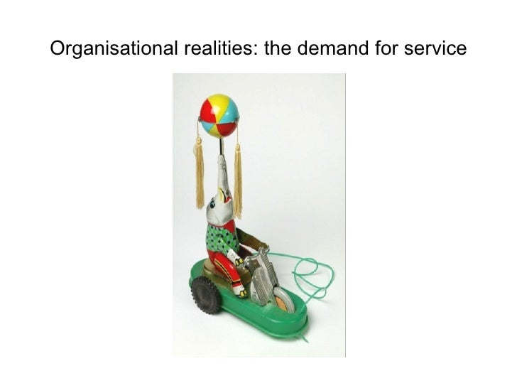 Organisational realities: the demand for service