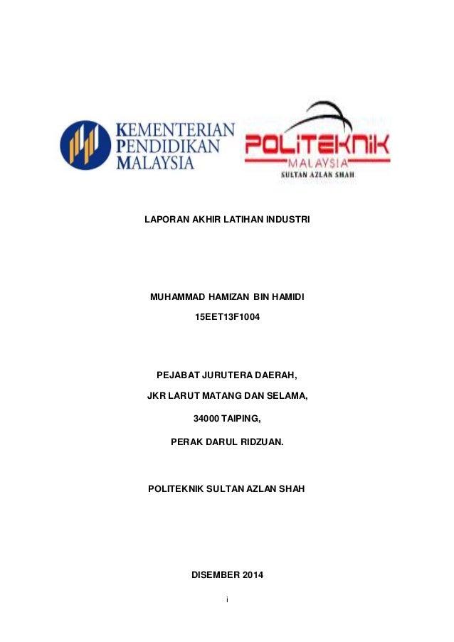 Muka Depan Report Latihan Industri Jke Psas