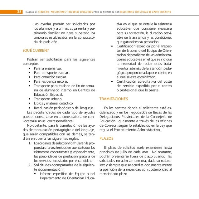 Manual De Servicios Prestaciones Y Recursos Educativos