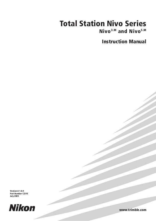 nikon nivo m-series instruction manual