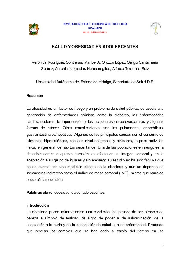 REVISTA CIENTÍFICA ELECTRÓNICA DE PSICOLOGÍA                                       ICSa-UAEH                              ...