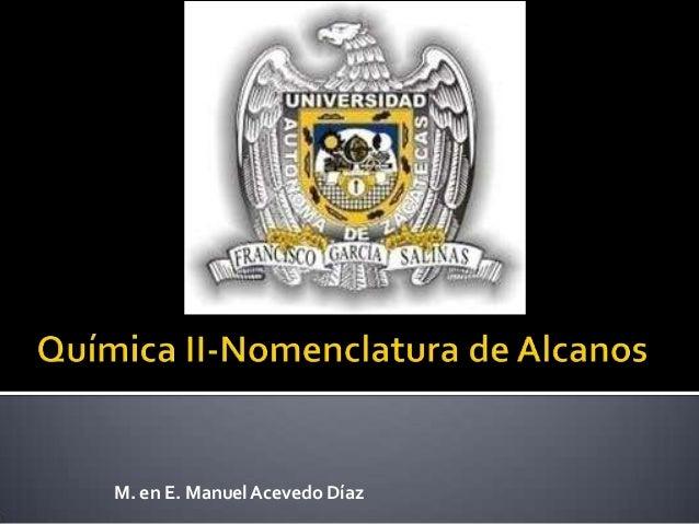 M. en E. Manuel Acevedo Díaz