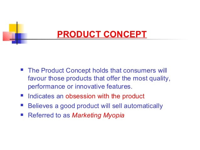 the marketing concept holds that ________