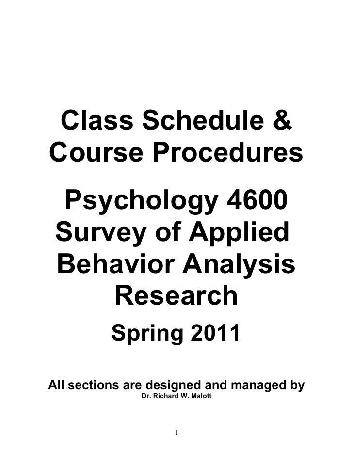 1.p4600 spring 2011 course procedures