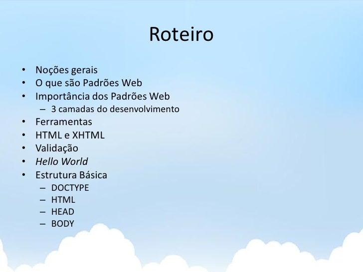 Desevolvimento Web Client-side - HTML Slide 3