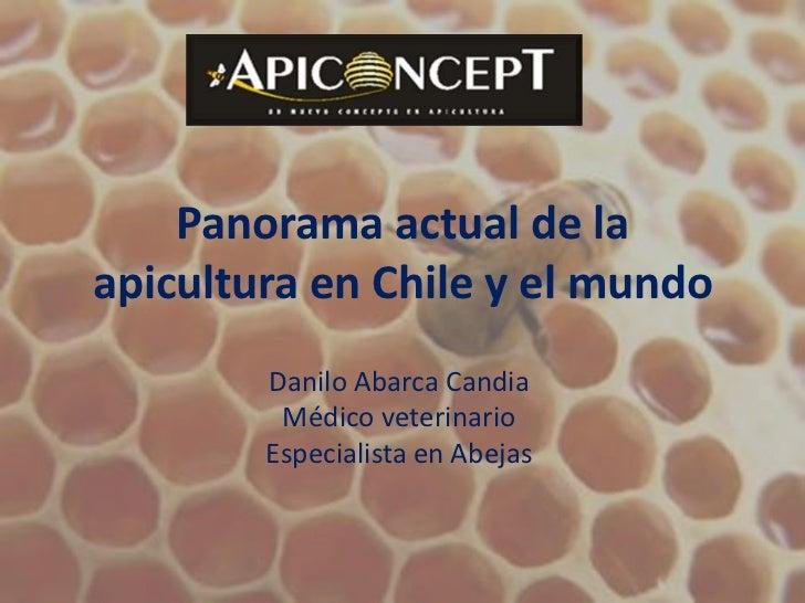 Panorama actual de la apicultura en Chile y el mundo<br />Danilo Abarca Candia<br />Médico veterinario<br />Especialista e...