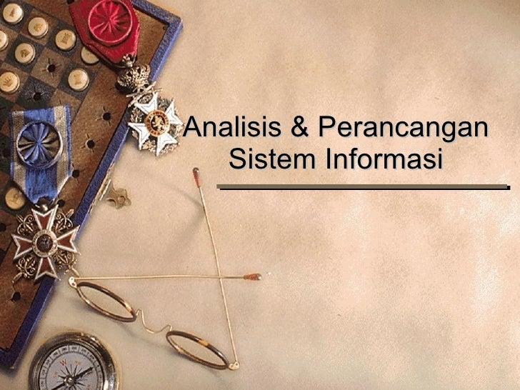 Analisis & Perancangan Sistem Informasi