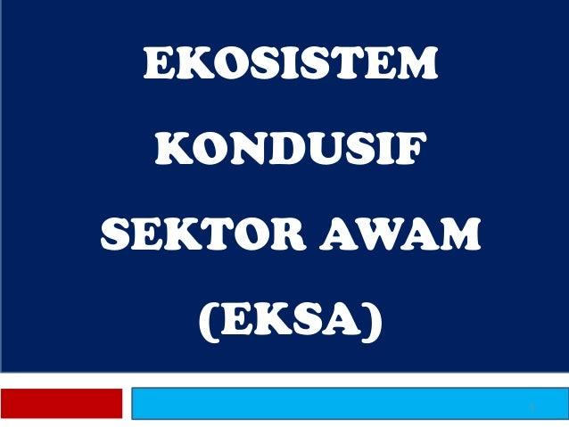 EKOSISTEM KONDUSIF SEKTOR AWAM (EKSA) 1
