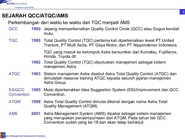 sejarah quality management In november 2009, waskita has successfully updated its quality management  system and was able to obtain certification of iso 9001:2008 this becomes a.