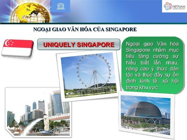NGOẠI GIAO VĂN HÓA CỦA SINGAPORENGOẠI GIAO VĂN HÓA CỦA SINGAPORE Ngoại giao Văn hóaNgoại giao Văn hóa Singapore nhằm mụcSi...