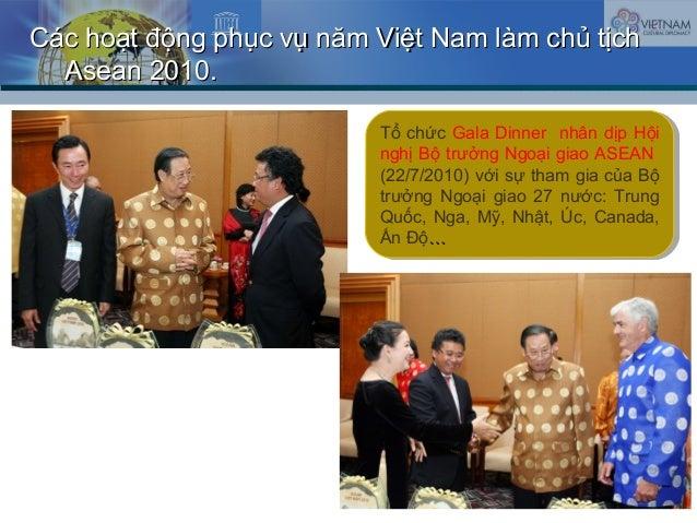 Các hoạt động phục vụ năm Việt Nam làm chủ tịchCác hoạt động phục vụ năm Việt Nam làm chủ tịch Asean 2010.Asean 2010. Tổ c...