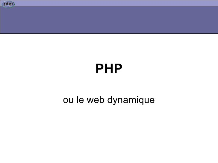 PHP - get started