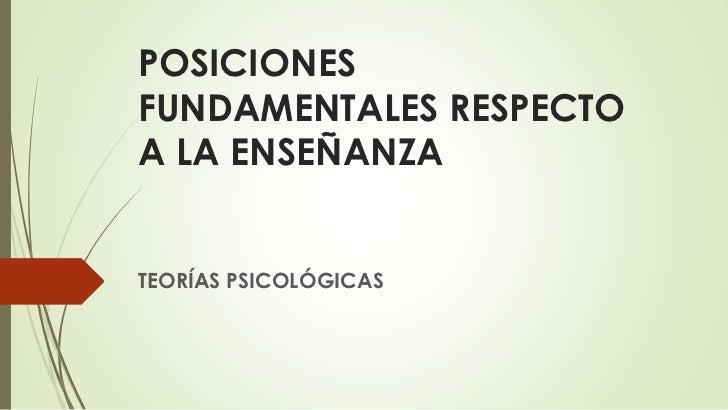 b66cab10a7 1. posiciones fundamentales respecto a la enseñanza