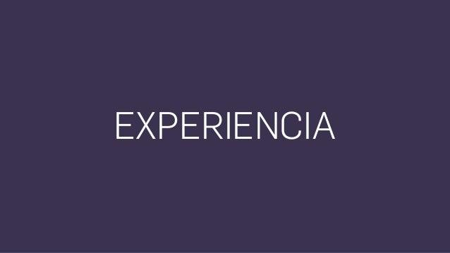 """""""Experiencia del Usuario"""" incluye todos los aspectos de la interacción del usuario final con una organización, sus servici..."""