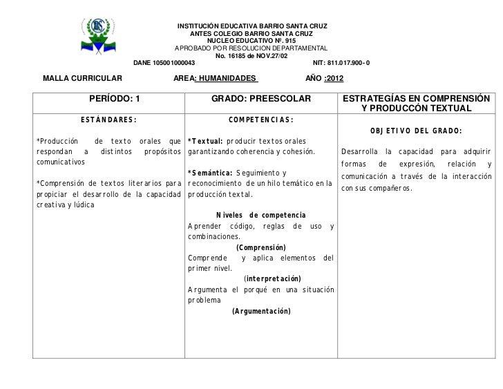 INSTITUCIÓN EDUCATIVA BARRIO SANTA CRUZ                                         ANTES COLEGIO BARRIO SANTA CRUZ           ...
