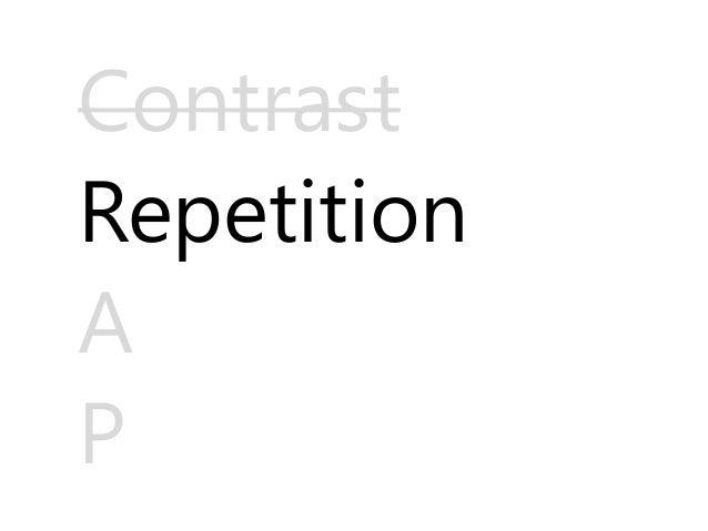 Principles of presentation design crap by james ngatia