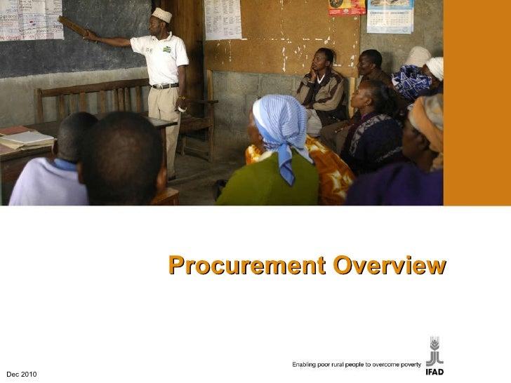 Procurement Overview Dec 2010