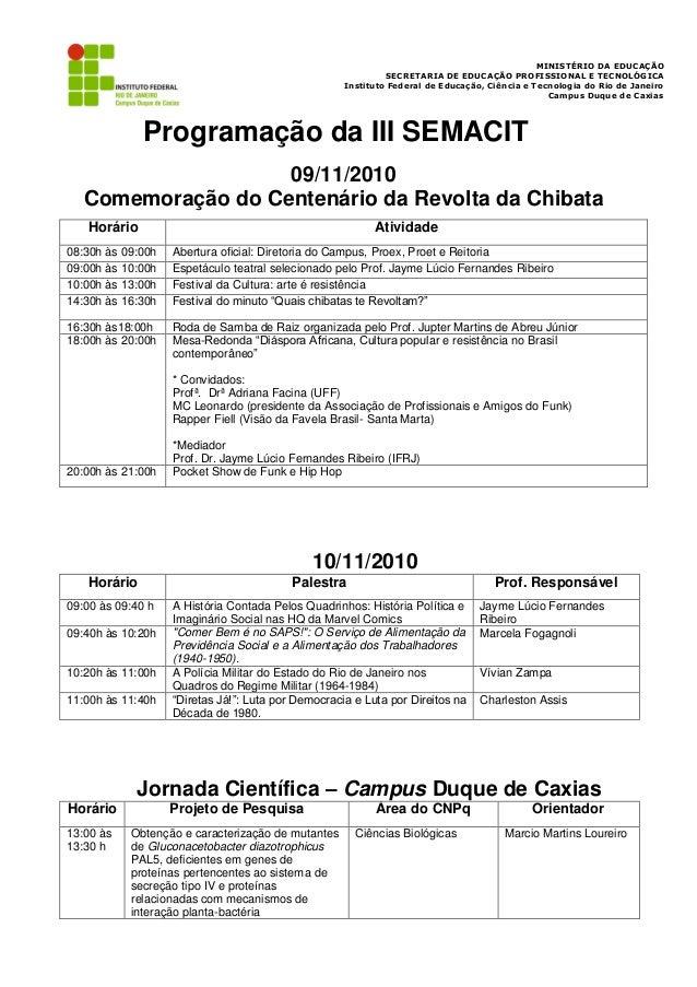 MINISTÉRIO DA EDUCAÇÃO                                                              SECRETARIA DE EDUCAÇÃO PROFISSIONAL E ...