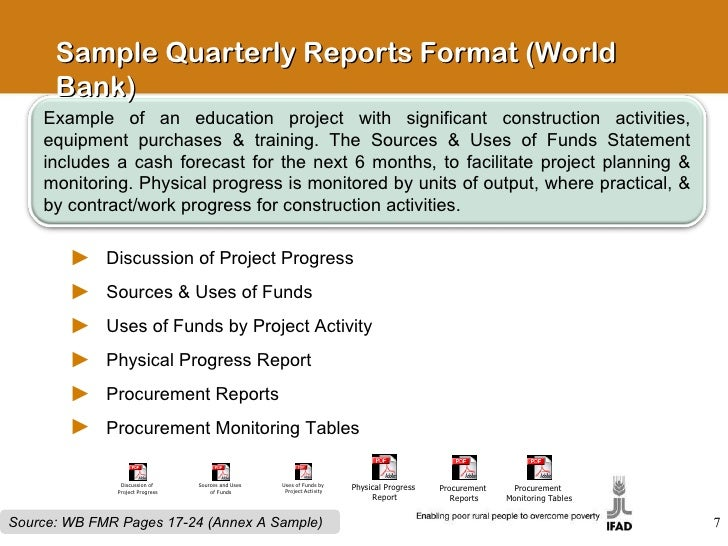 project financial statements and quarterly reporting – Construction Project Report Format