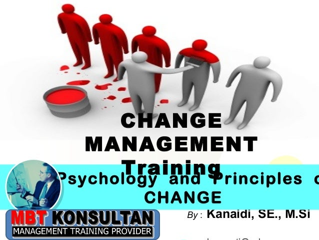 Click to edit Master title style             CHANGE          MANAGEMENT             Training       Psychology and Principl...