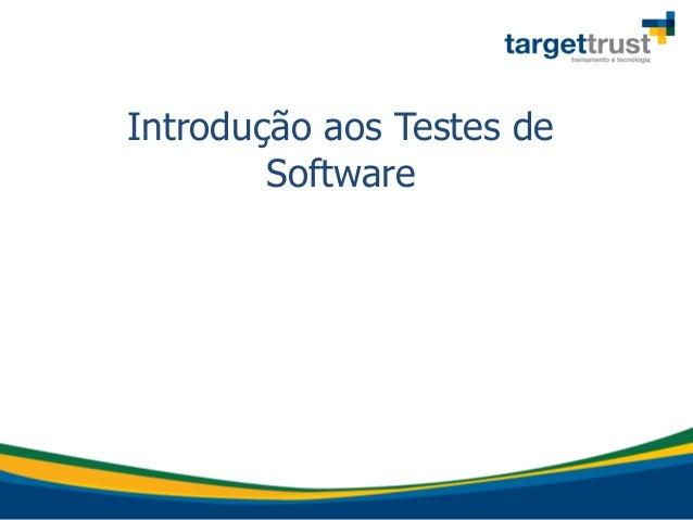 Introdução aos Testes de Software