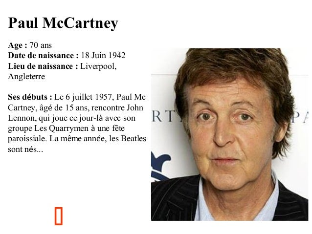Rencontre mccartney lennon