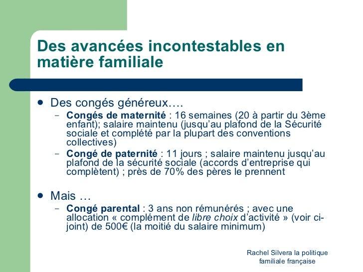 La politique familiale fran aise un mod le - Salaire plafond securite sociale ...
