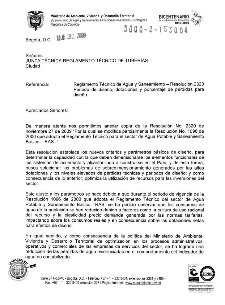 Ministerio de Ambiente, Vivienda y Desarrollo Territorial                     BICENTENARIO                  Viceministerio...