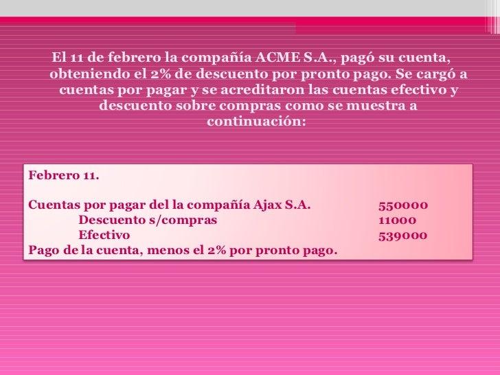 1. registro de las cuentas por pagar. alejandra rangel rangel