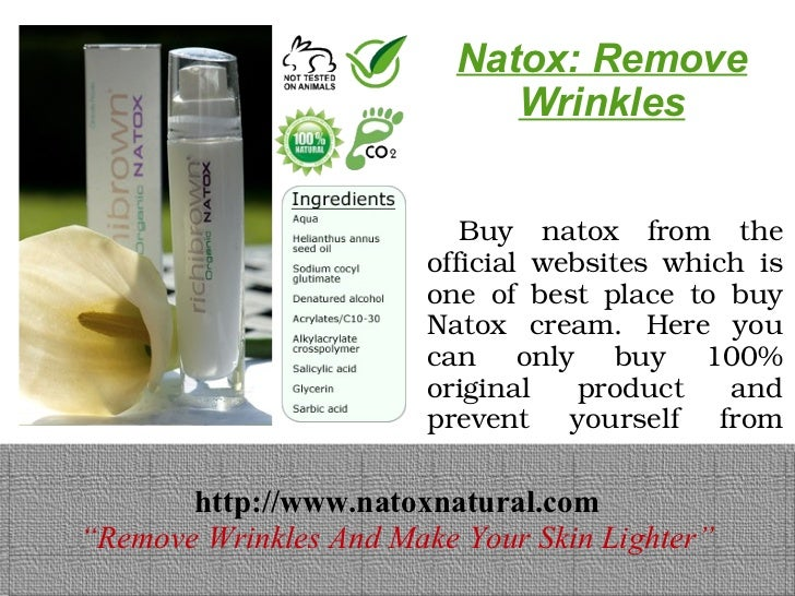 Natox: Remove                             Wrinkles                        Buy natox from the                        ...