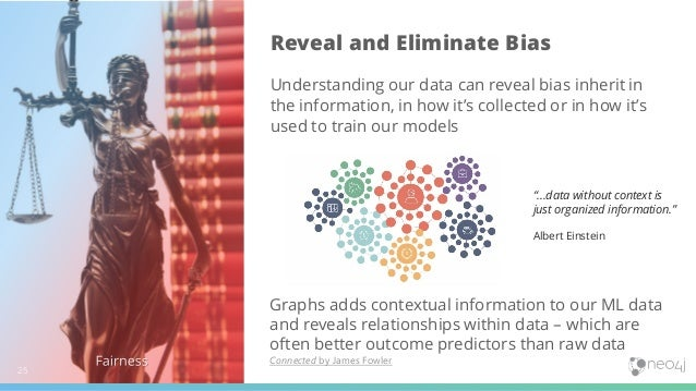 25 Reveal and Eliminate Bias Understanding our data can reveal bias inherit in the information, in how it's collected or i...