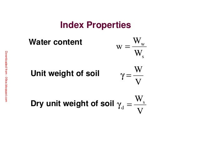 Review of soil mechanics for Soil content