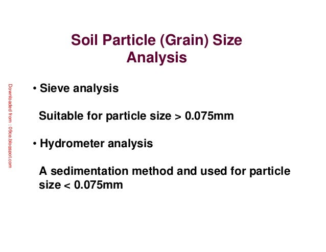 Particle Size Analysis Using Hydrometer Essay Sample