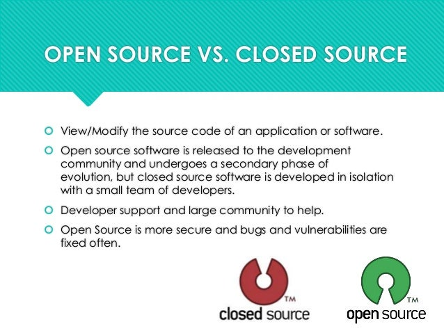 Open source seminar presentation Open source programs