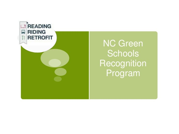 NC Green  SchoolsRecognition Program