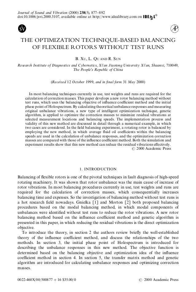 Journal of Sound and <ibration (2000) 238(5), 877}892doi:10.1006/jsvi.2000.3107, available online at http://www.idealibrar...