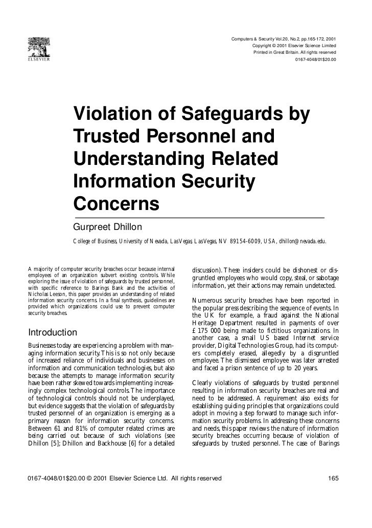 Computers & Security Vol.20, No.2, pp.165-172, 2001                                                                       ...