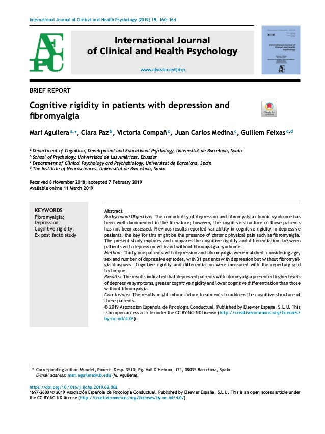 International Journal of Clinical and Health Psychology (2019) 19, 160---164 www.elsevier.es/ijchp International Journal o...