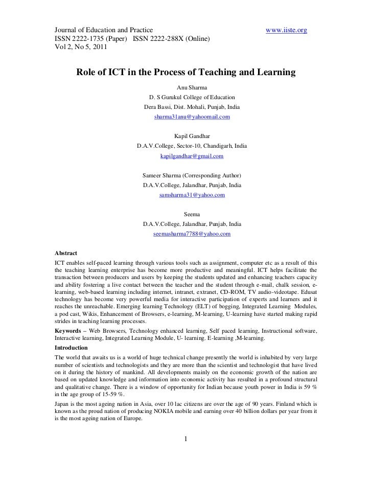 Journal of Education and Practice                                                     www.iiste.orgISSN 2222-1735 (Paper) ...