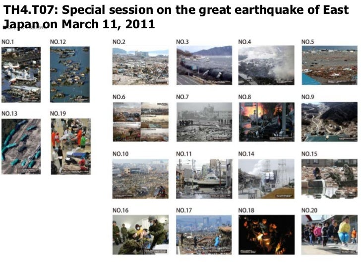 TH4.T07: Special session on the great earthquake of EastJapan on March 11, 2011