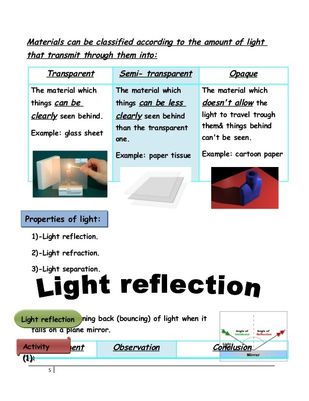 1 Science Booklet Sheets P5 2015
