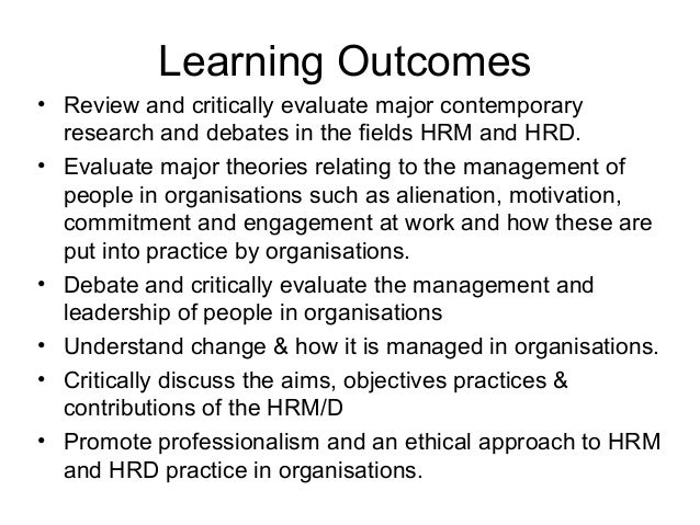 hrd different perspectives aims and objectives To develop national and international networking with groups having similar aims and objectives  hrd journal designed to forward the aims  reconcile different.