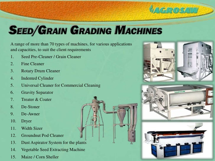 1 Seed Amp Grain Cleaning Amp Grading