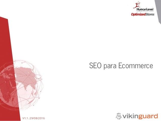 V1.1. 29/08/2016 SEO para Ecommerce