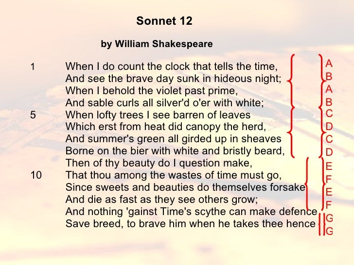 1 shakespeare - sonnet 12