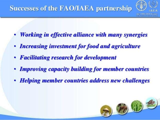 FAO-IAEA Partnership, Benefits the Member Countries