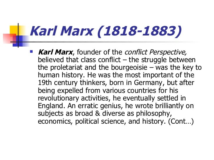 conflict perspective of karl marx