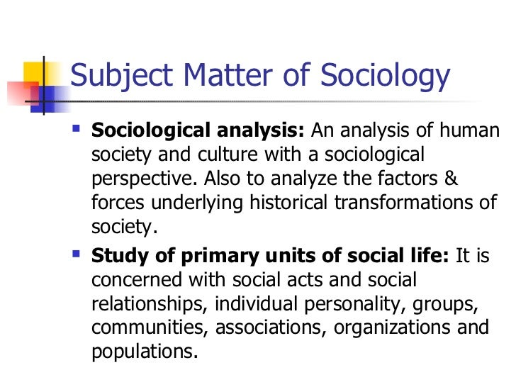 AN ANALYSIS OF THE THREE SOCIOLOGICAL PERSPECTIVES